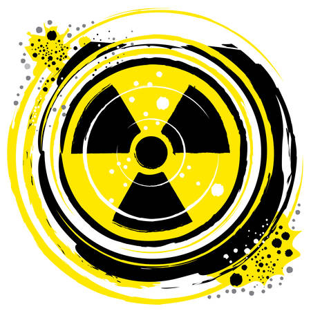 waves of radiation in the radioactive symbol Stock Vector - 9093103