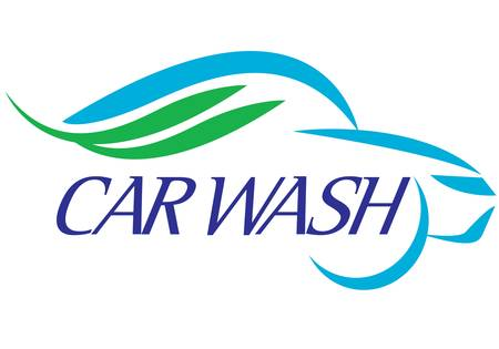 special symbol for car wash company on background Illustration