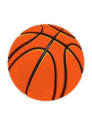 ballon basketball: balle de basket-ball vecteur sur le fond blanc