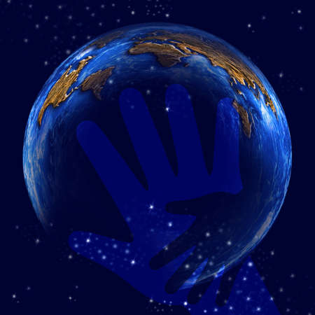 charitable: an illustration. International aid for the world. Stock Photo