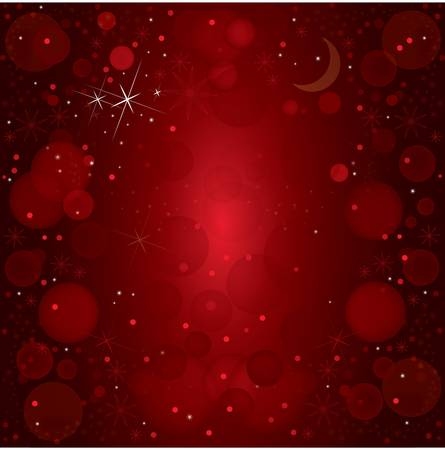 abstract vector christmas background with stars and ornaments