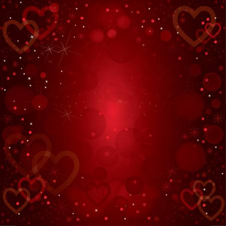 abstract vector valentines background with stars and ornaments Vector