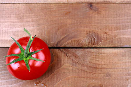 saturated color: Close-up of fresh, ripe cherry tomatoes on wood