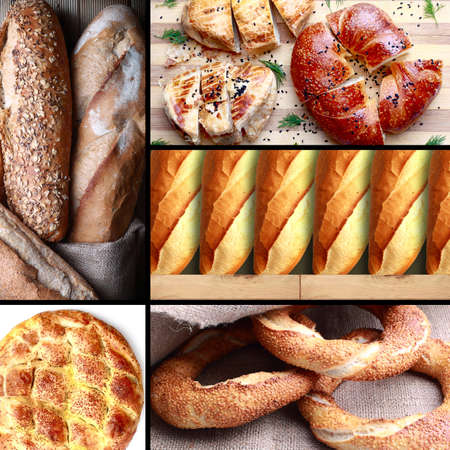 bakery products: Turkish bakery products group images. Stock Photo