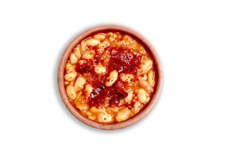 Kuru fasulye is a stewed bean dish in Turkish cuisine Stock Photo