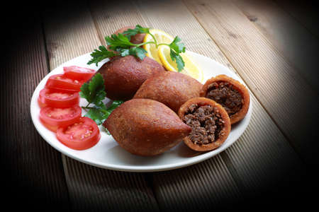 Kibbeh is a popular dish in Middle Eastern cuisine Banco de Imagens