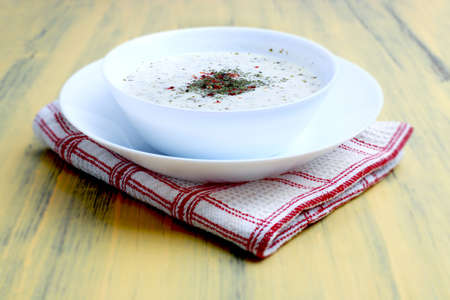 Plate soup or yoghurt soup,  Every region of Turkey is prepared and consumed.