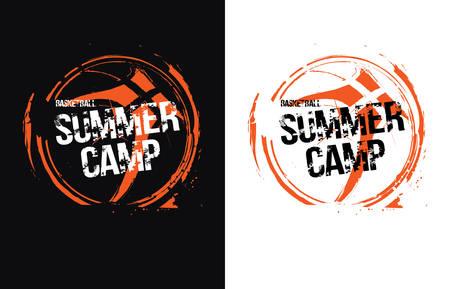 Diseño de baloncesto-ilustración vectorial para camiseta