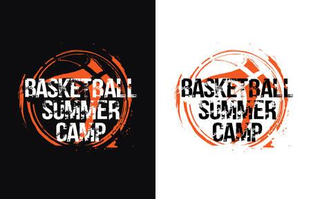 Basketball design for t-shirt illustration.