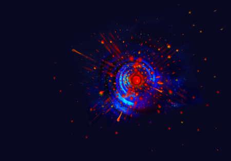 ビッグバン理論。非常に高密度で高温状態。
