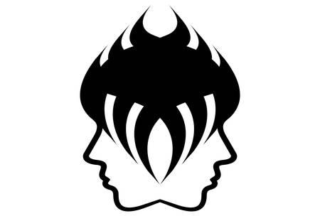 An emblem for beauty salon and hairdresser.