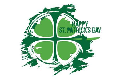 Happy St. Patrick's Day design on a white background. Vector illustration. Illustration