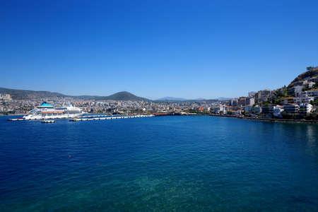 The harbour of Kusadasi, Turkey.Kusadasi, Turkey. July 28.2019 Éditoriale