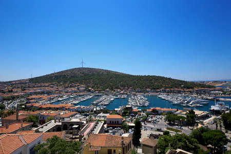 From the castle, panoramic view of Cesme.Cesme, Izmir/ Turkey. July 31.2019 Éditoriale