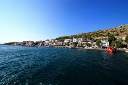 Panoramic view of Cesme.Cesme, Izmir/ Turkey. July 31.2019