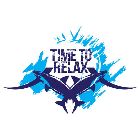 Time to relax. Surf t-shirt design. Isolated on white background. Illustration