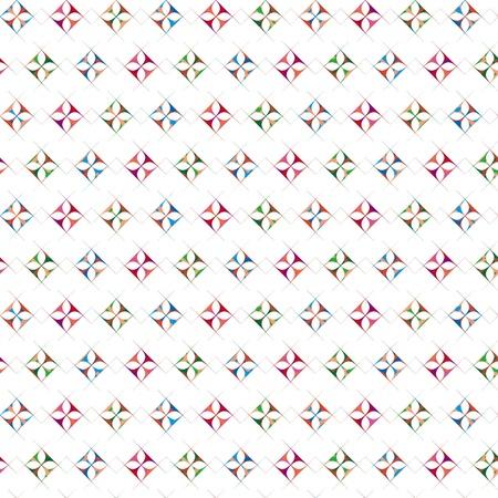 Seamless repeated diamond shape pattern Vector