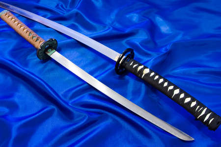 Japanese katana sword. The weapon of a samurai. A formidable weapon in the hands of a master of martial arts