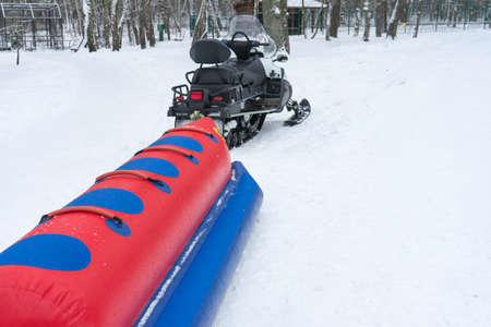 Russian crazy rides. A dangerous drive through the snow.