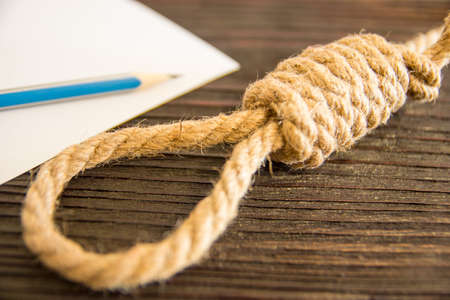 The deadly loop of rope. Last seconds of life. Unrequited love...