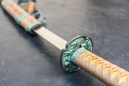 Sword of the samurai. Medieval Japanese weapons.