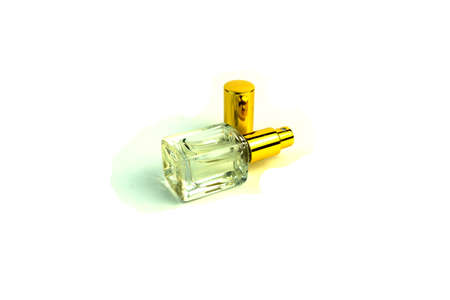 A vial of perfume. Photo on white background. Stock Photo