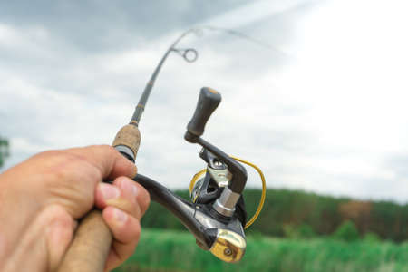 Spinning fishing is an exciting activity. Sport fishing ..