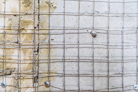 Metal welded mesh for better adhesion of plaster on the walls. Metal welded mesh for better adhesion of plaster on the walls. Banco de Imagens
