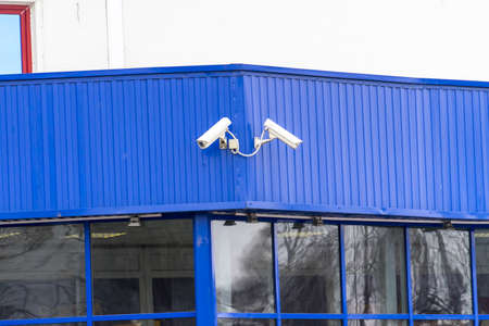 Security cameras are located on the building. Place for your text. Security cameras are located on the building. Place for your text.