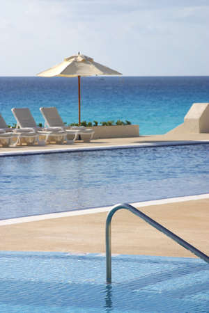 pool in cancun, mexico photo