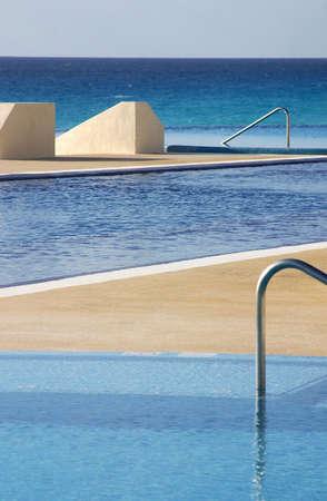 caribe: pool in cancun, mexico