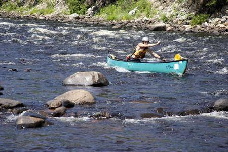 Kayaking in Quebec, Canada