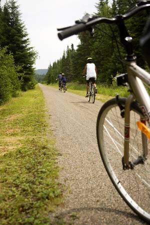 Bycicle route in Quebec, Canada Banco de Imagens