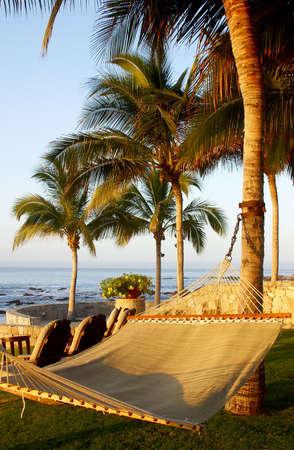 hammock in los cabos, mexico Banco de Imagens