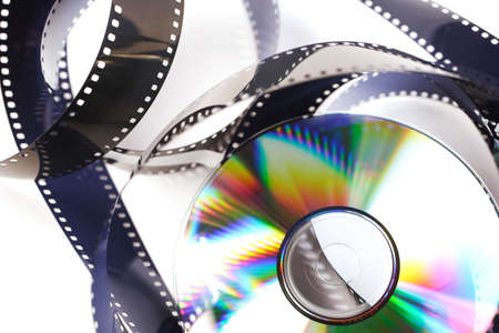 photo film and compact disc detail Stock Photo