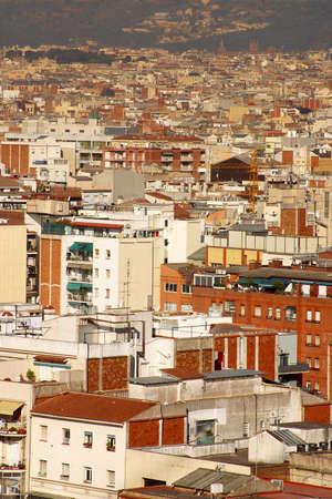 catalunya: partial view of the city of Barcelona, Catalunya, Spain, Europe Stock Photo