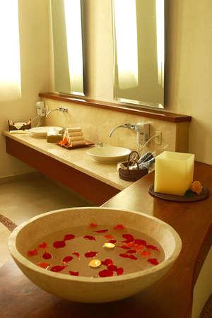 jalisco: bathrooms of a hotel in Puerto Vallarta, Jalisco, Mexico, Latin America