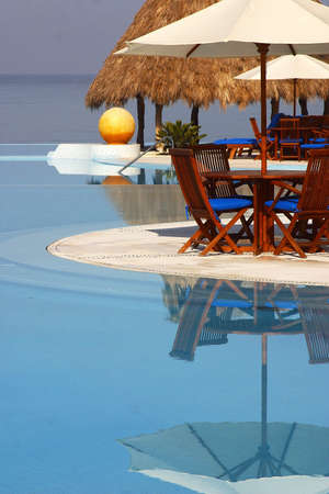 partial view of the pools of a hotel in Puerto Vallarta, Jalisco, Mexico, Latin America photo