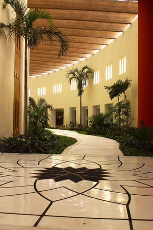 partial view of the interior decoration of a hotel in Puerto Vallarta, Jalisco, Mexico, Latin America
