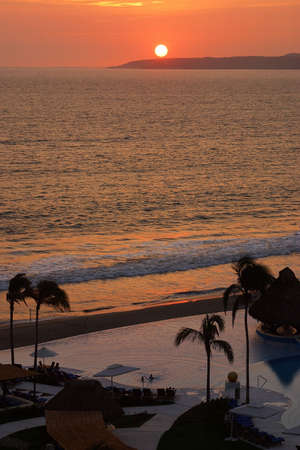 jalisco: partial view of the pools of a hotel in Puerto Vallarta, Jalisco, Mexico, Latin America