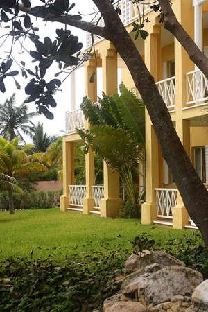 riviera maya: parte de un hotel con detalles como la hacienda en Canc�n, Riviera Maya, Quinatan Roo, Mexico, Am�rica Latina