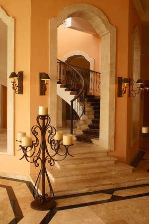 riviera maya: Detalles de la decoraci�n interior de un hotel hacienda con detalles como en Canc�n, Riviera Maya, Quinatan Roo, Mexico, Am�rica Latina