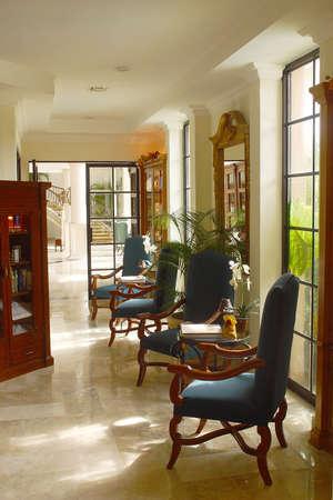 riviera maya: decoraci�n interior de un hotel hacienda con detalles como en Canc�n, Riviera Maya, Quinatan Roo, Mexico, Am�rica Latina Foto de archivo