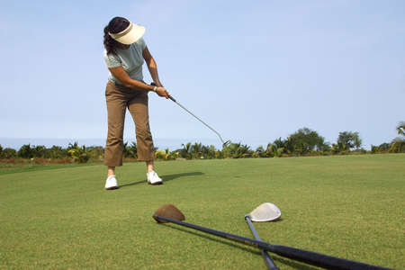 golf in Cancun, Mexico Stock Photo