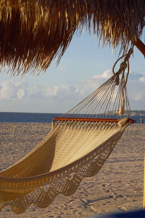 Hammock at the beach of Los Cabos, Baja California, Mexico, Latin America Banco de Imagens - 1193496