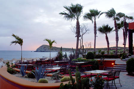 restaurant next to the beach of Los Cabos, Baja California, Mexico, Latin America