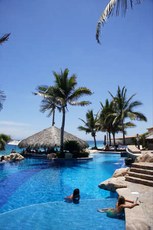pool in Los Cabos, Baja California Sur, Mexico Stock Photo
