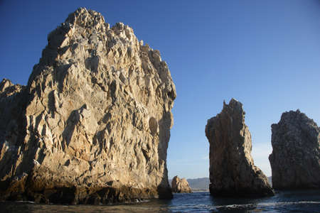 sur: rocks in Cabo San Lucas in Baja California Sur in Mexico Stock Photo