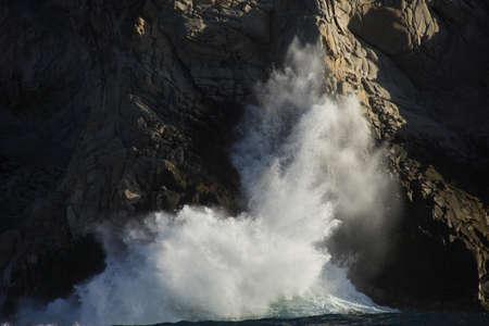 lucas: wave in Cabo San Lucas in Baja California Sur in Mexico
