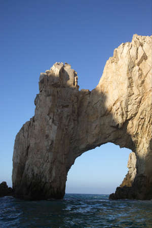 cabo: The Arch of Cabo San Lucas in Baja California Sur in Mexico Stock Photo
